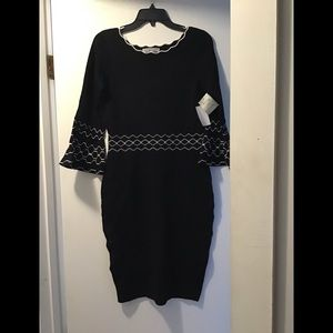 New Danny & Nicole sweater dress bell sleeves